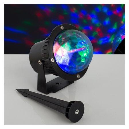 """Световой прибор """"Хрустальный уличный шар"""", D=10 см, 12 В, Ip65  LuazON"""