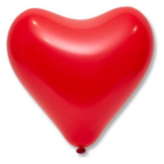 """Шар латексный 12"""", сердце, стандарт, набор 50 шт., цвет красный  Everts"""