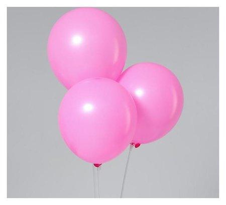 """Шар латексный 12"""", пастель, набор 5 шт., цвет розовый  Leti"""