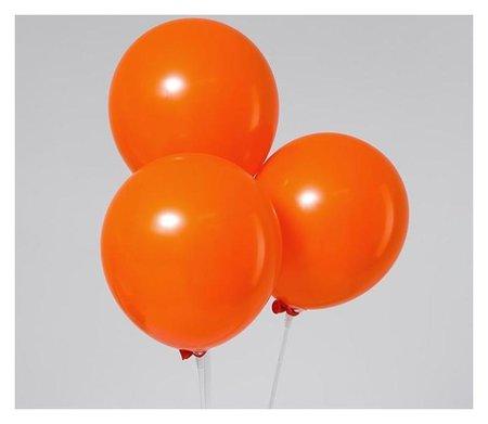 """Шар латексный 12"""", пастель, набор 5 шт., цвет оранжевый  Leti"""