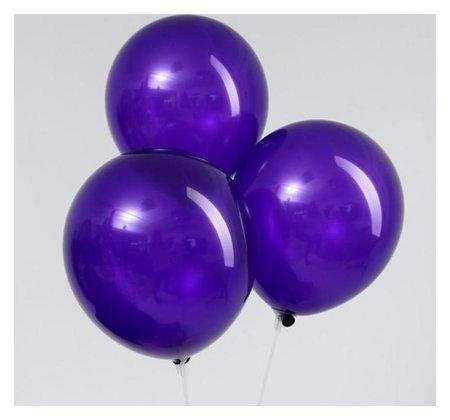 """Шар латексный 12"""", пастель, набор 5 шт., цвет фиолетовый  Leti"""