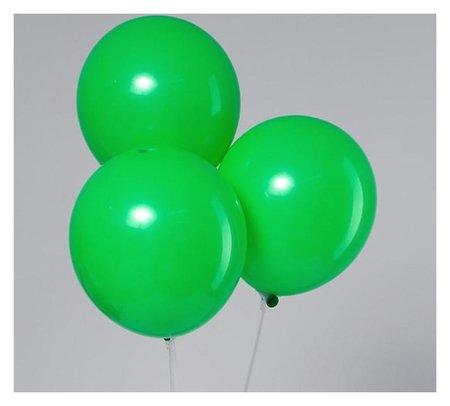 """Шар латексный 12"""", пастель, набор 5 шт., цвет зелёный  Leti"""