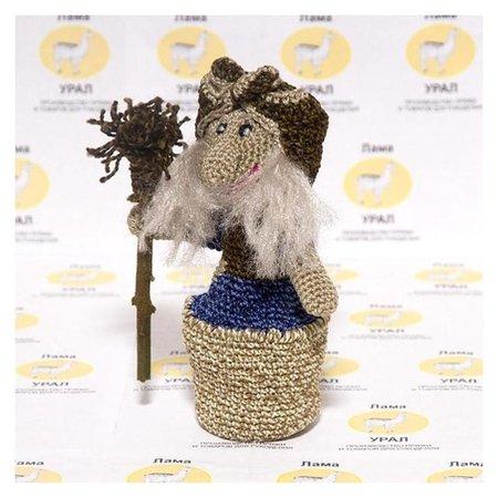 Набор для вязания игрушки Баба Яга 16х12 см LamaUral