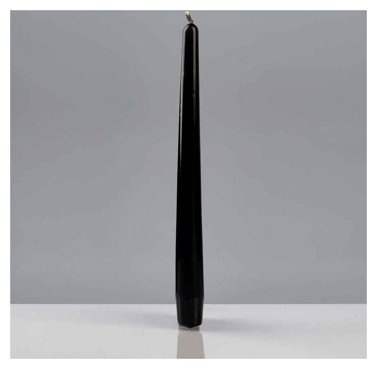 """Свеча """"Лакированная античная №40"""", 2,2×23 см, чёрная  Poland Trend Decor Candle"""