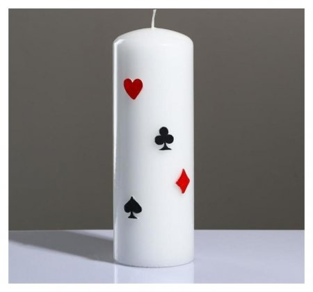 Свеча - цилиндр Покер, 7×20 см Poland Trend Decor Candle