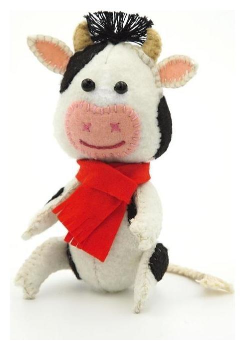 Набор для шитья текстильной игрушки «Бычок красавчик» 11,5 см Дизайн-студия Кукла Перловка