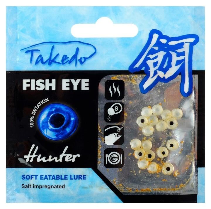 Приманка съедобная солёная Takedo «Лещёвый глаз», 5 мм, аромат мотыль (Набор 15 шт.) Takedo