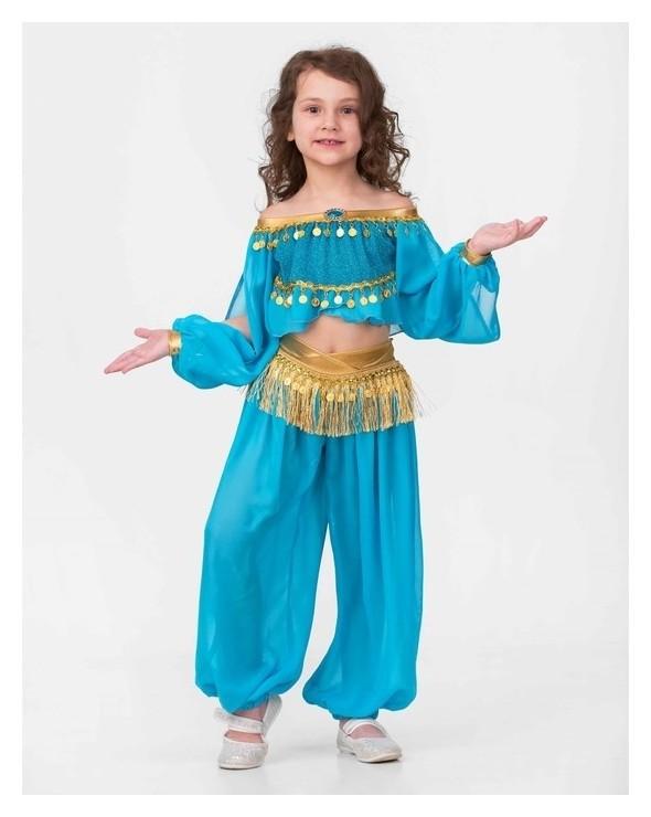 Карнавальный костюм Принцесса востока, текстиль, блуза, брюки, р.32, рост 128 см Батик
