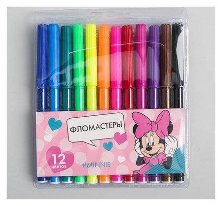 Фломастеры «Minnie», 12 цветов, минни маус  Disney