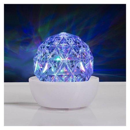 """Световой прибор """"Хрустальный шар на подставке"""", 12х12 см, 220v, RGB  Paris"""