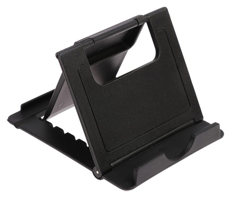 Подставка для телефона Luazon, складная, регулируемая высота, чёрная  LuazON