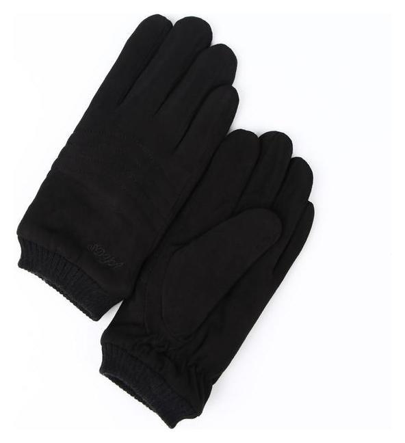 Перчатки муж, безразмерные, длина 24см, утеплитель мех, глад, строчка, резинка, черный Этель