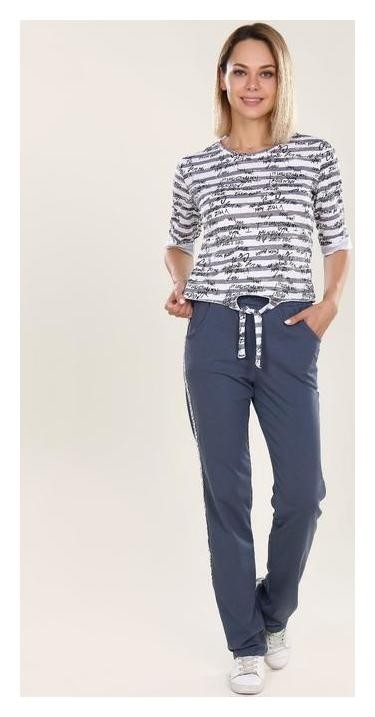 Костюм женский (Футболка, брюки) Fashion Sports, цвет серый, размер 46  Руся