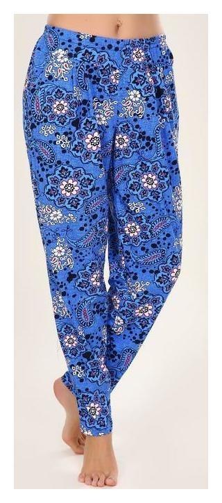 Брюки женские «Пейсли», цвет синий, размер 52  Руся