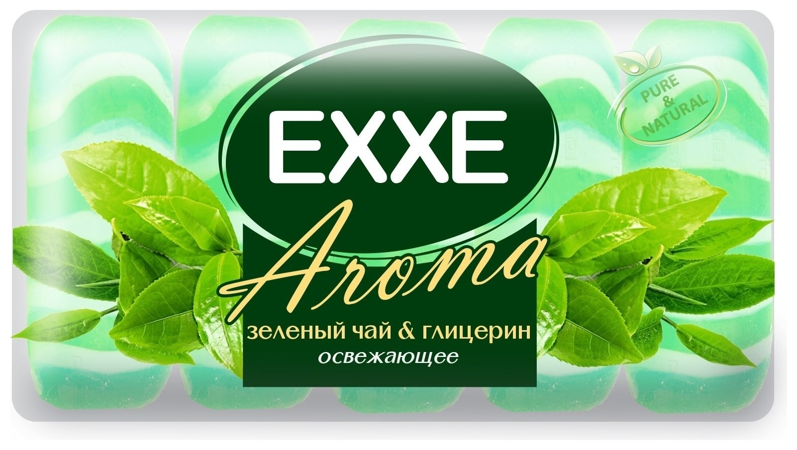 Крем-мыло для рук Зеленый чай и глицерин  Exxe