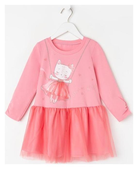 Платье для девочки, цвет розовый, рост 104 см Luneva