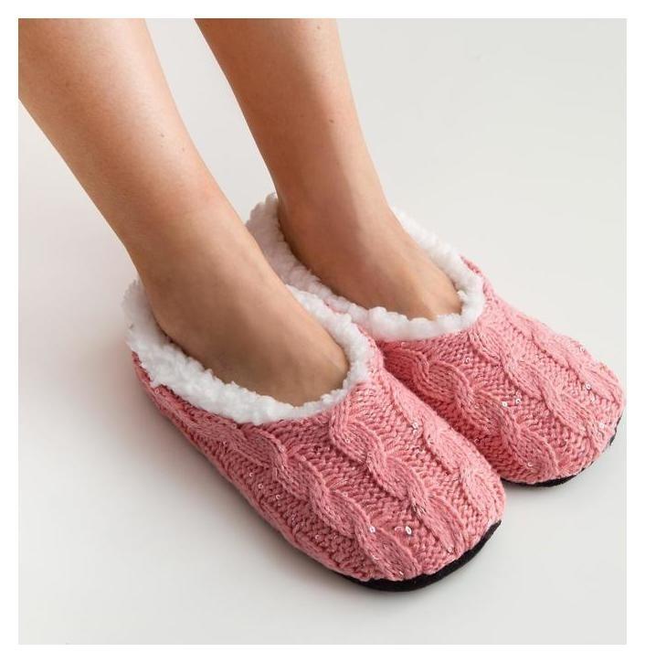Носки-тапочки женские Collorista «Романтика», размер 36-37 (23 см), цвет розовый Collorista