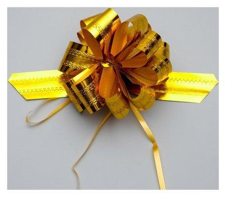 Бант-шар №3,2 полоса, золото Доляна