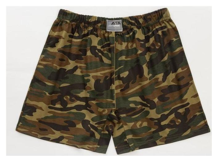 Трусы мужские шорты, цвет камуфляж, размер 50-52 Ata sport