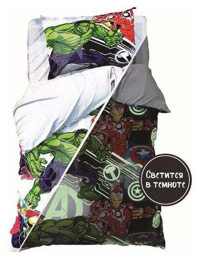 Постельное белье 1,5 сп Neon Series, мстители, 143*215 см, 150*214 см, 50*70 см -1 шт  Marvel