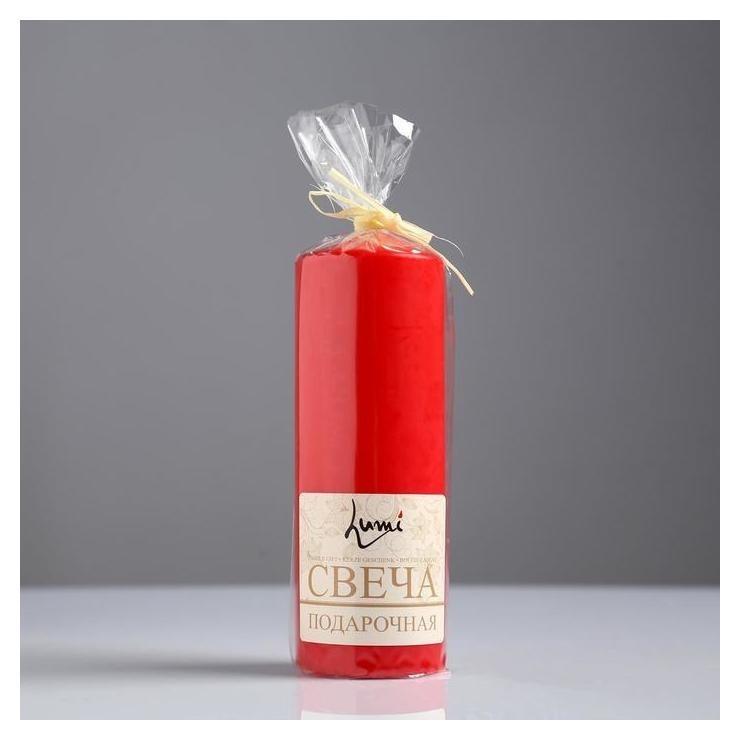 Свеча классическая 5*15 см, красная, лакированная Издательство Литур