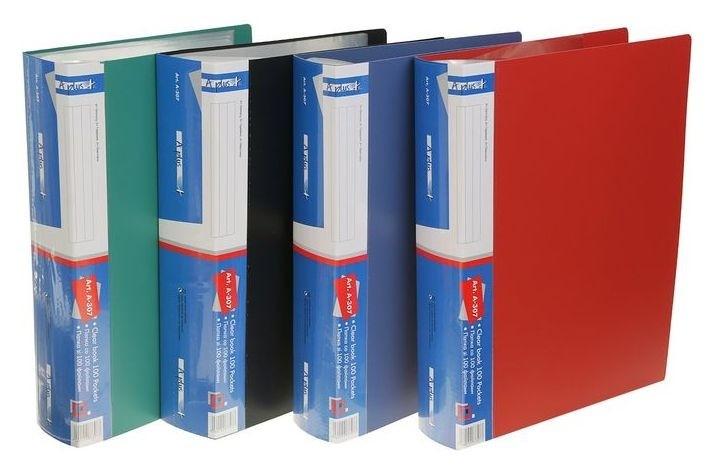 Папка формат А4 с 100 прозрачными файлами  Calligrata