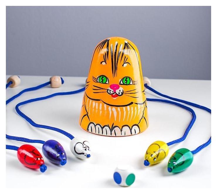 Игра детская «Кошки-мышки» рыжая кошка  RNToys