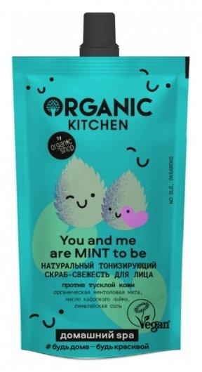 Скраб-свежесть для лица Натуральный тонизирующий You And Me Are Mint to be  Organic Kitchen