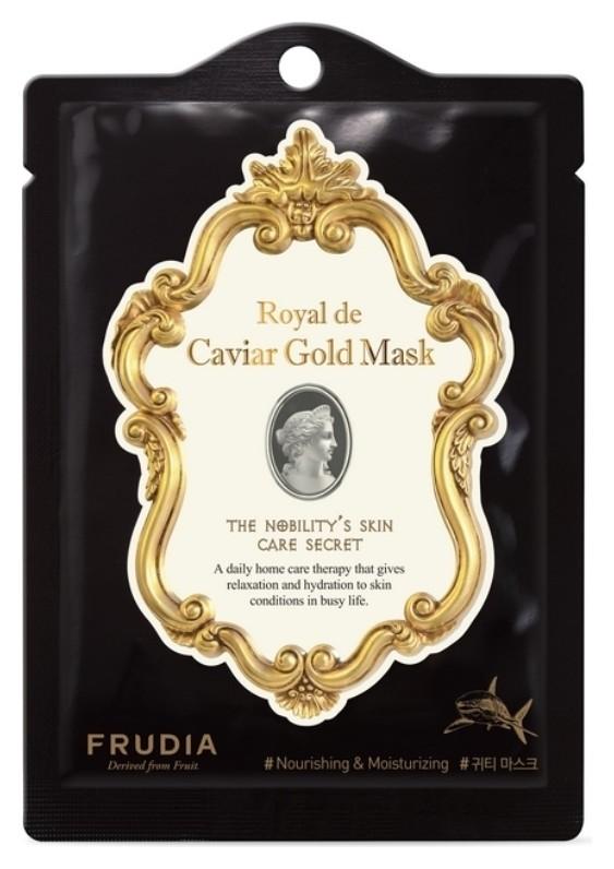 Маска омоложивающая с золотом и экстрактом икры Caviar Gold Mask  Frudia