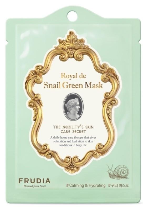 Маска для лица омолаживающая с муцином улитки Snail Green Mask  Frudia