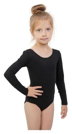 Купальник гимнастический, с длинным рукавом, размер 40, цвет чёрный  Grace dance