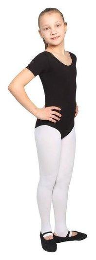Купальник гимнастический, с коротким рукавом, размер 34, цвет чёрный  Grace dance