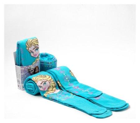 """Колготки дисней """"Холодное сердце"""", голубой, 104-110 см  Disney"""