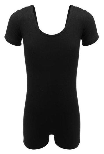 Купальник-шорты, с коротким рукавом, размер 42, цвет чёрный  Grace dance