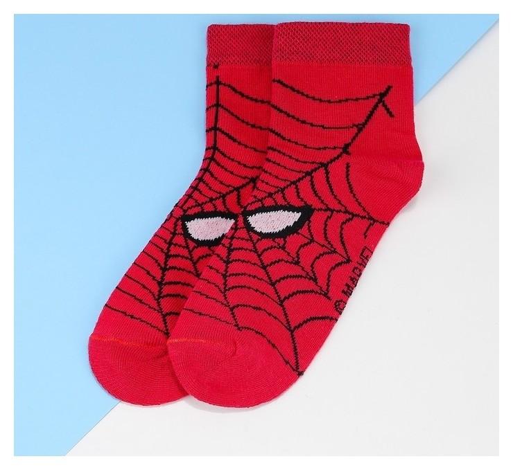 """Носки детские корот """"Человек паук"""", красный 16-18 см, 4-6 лет., 80% хл.,17% п/э, 3% эл.  Marvel"""