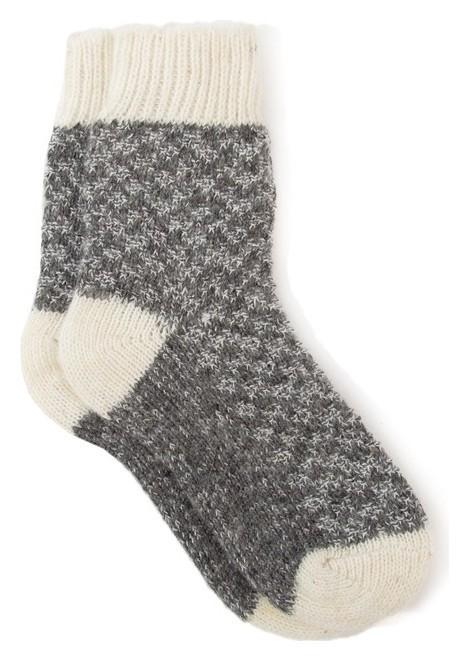 Носки для мальчика шерстяные фактурная вязка, размер 14 Стильная Шерсть