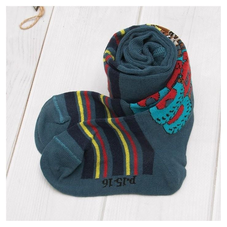 Колготки для мальчика кдм1-2782, цвет джинсовый, рост 98-104 см  Носкофф