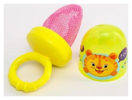 Ниблер с текстильной сеточкой «Чудо-ребёнок», цвет жёлтый  Крошка Я