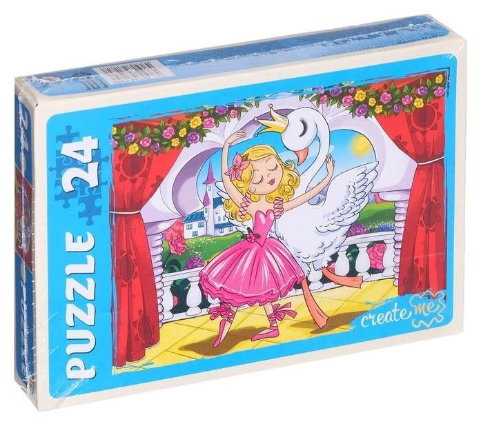 Макси-пазлы 24 элемента «Балеринка и лебедь №2» Рыжий кот