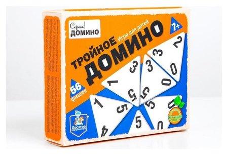 Игра настольная деревянная «Тройное домино»  Десятое королевство