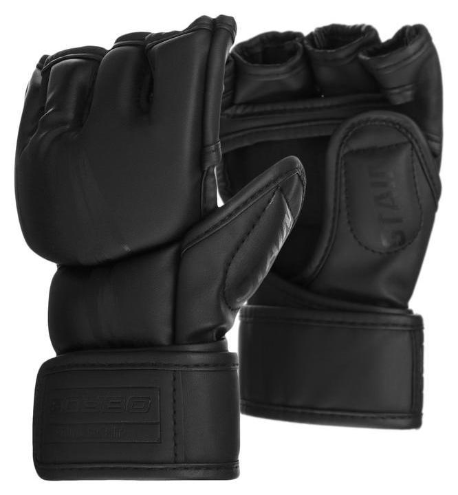 Перчатки для ММА Boybo Stain, флекс, цвет чёрный, размер S NNB
