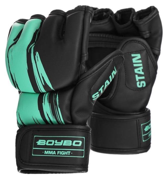 Перчатки для ММА Boybo Stain, флекс, цвет голубой, размер L  NNB