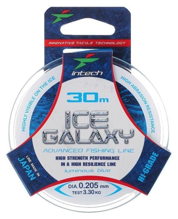 Леска Intech Ice Galaxy, цвет голубой, 0,205, 30 м Intech