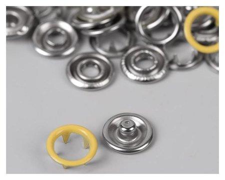 Кнопки рубашечные, D = 9,5 мм, 10 шт, цвет жёлтый  NNB