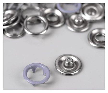 Кнопки рубашечные, D = 9,5 мм, 10 шт, цвет сиреневый  NNB