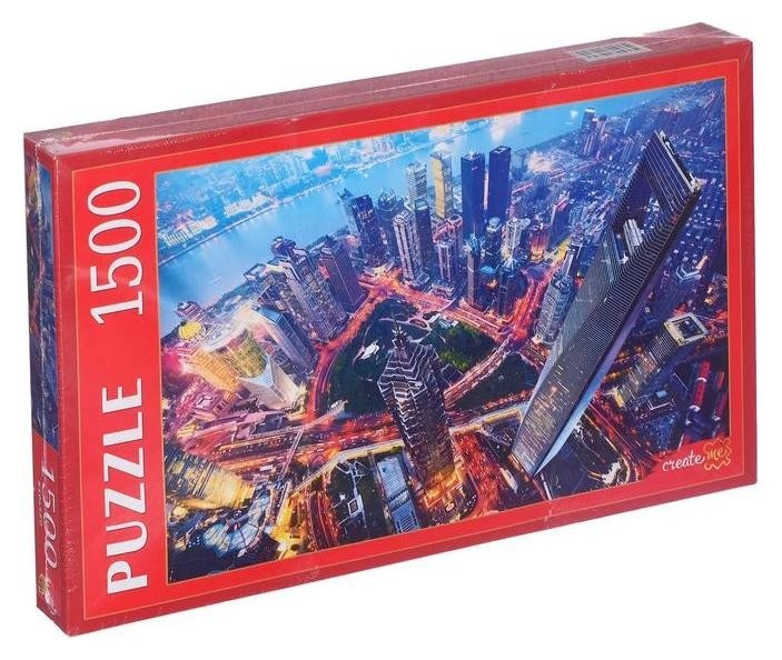 Пазлы 1500 элементов «Вечерние небоскребы в шанхае» Рыжий кот