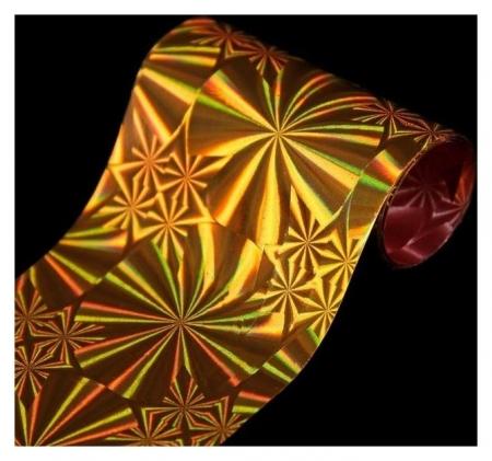 Переводная фольга для декора «Круги», 4 × 80 см, цвет золотистый NNB