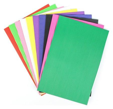 Набор пенка гофрированная, формат А4, 10 листов, 10 цветов, толщина 2 мм  Calligrata