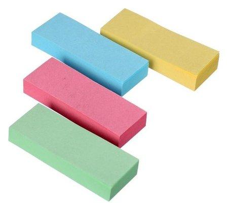 Блок-закладки с клеевым краем бумажные 12*50мм, 4цв*80л Pastel Calligrata
