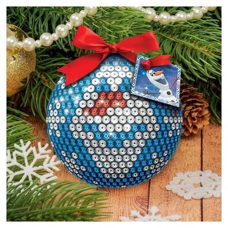 Новогодний ёлочный шар Олов холодное сердце с пайетками Disney